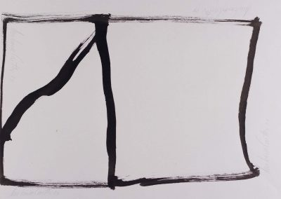 Amilcar de Castro, Untitled, drawing on paper, 45 x 63 cm, 1984