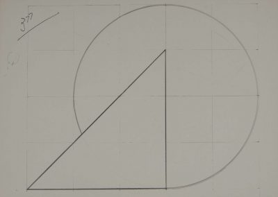 Amilcar de Castro, Untitled, graphite on paper, 32 x 44 cm, 1980s