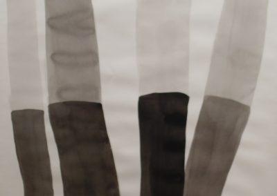 Tinta da China sobre papel, 140 x 100 cm....